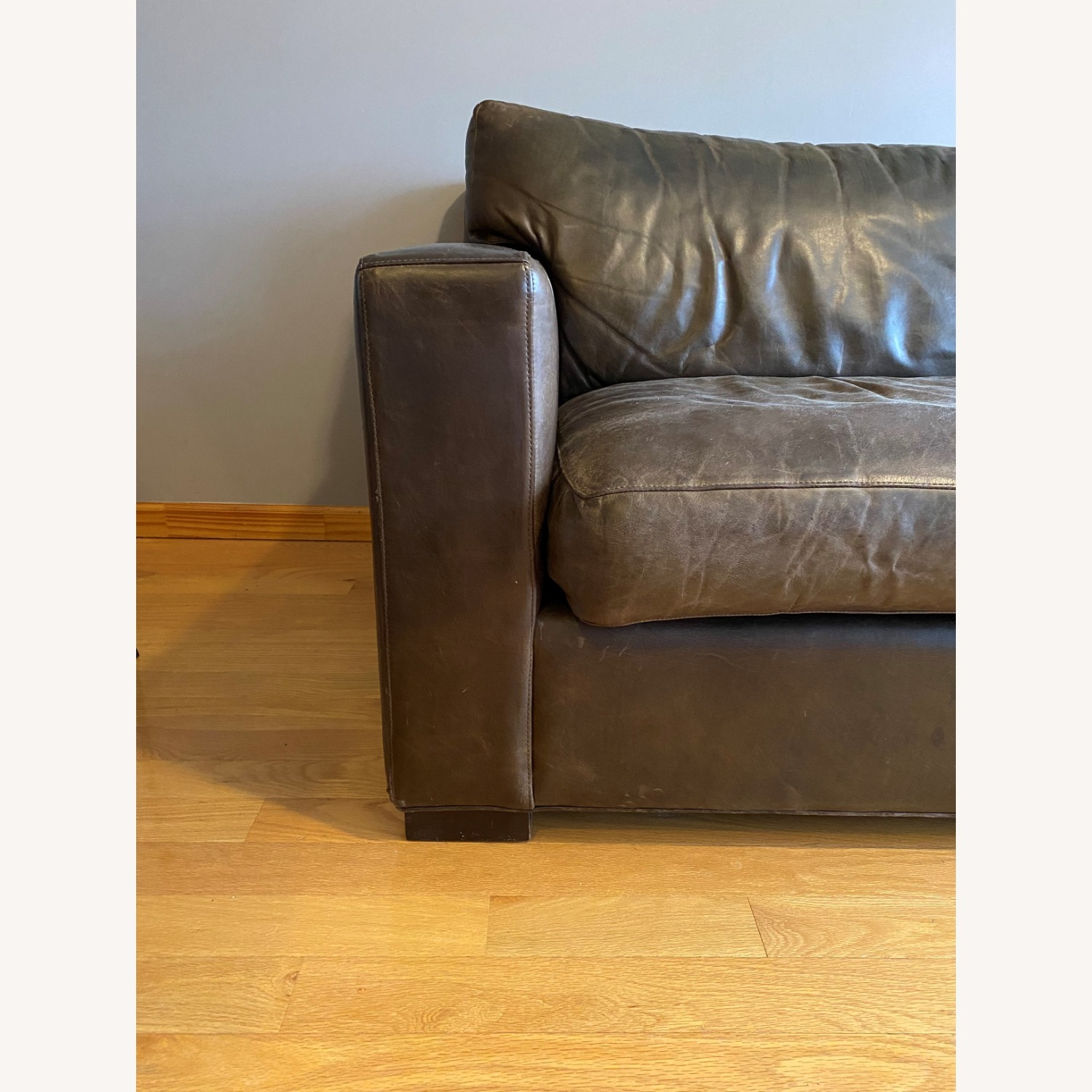 Crate and Barrel Axis Leather Sofa - image-2