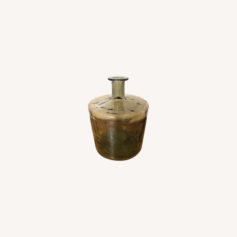 Brown Glass Floor Vase - image-0