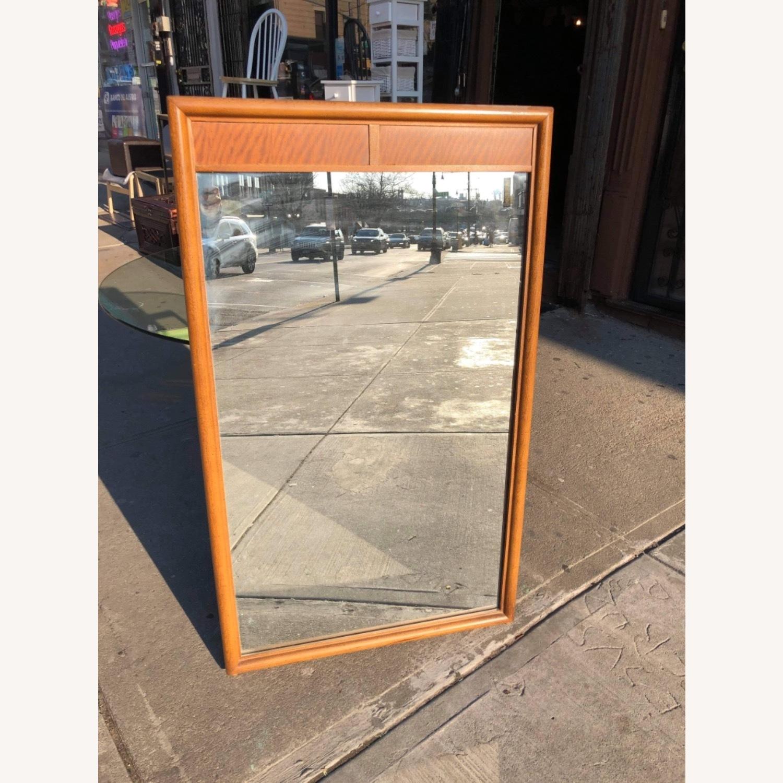 Vintage Mid Century 1950s Wooden Framed Mirror - image-3