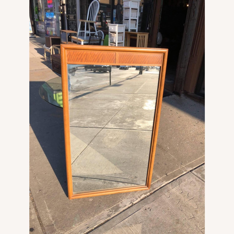 Vintage Mid Century 1950s Wooden Framed Mirror - image-1
