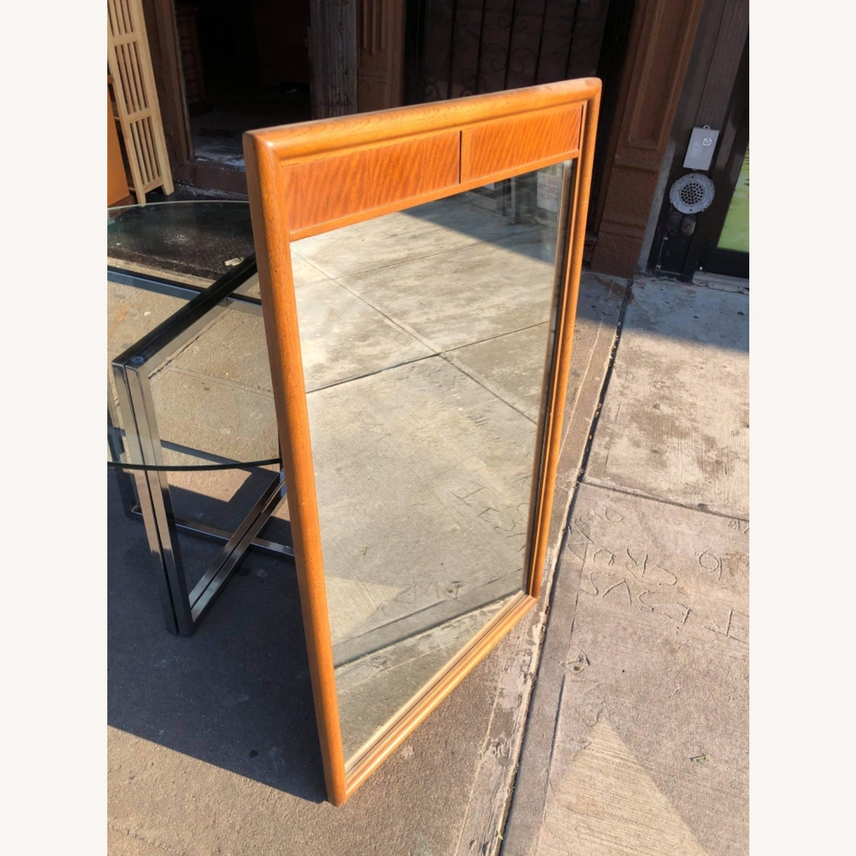 Vintage Mid Century 1950s Wooden Framed Mirror - image-6