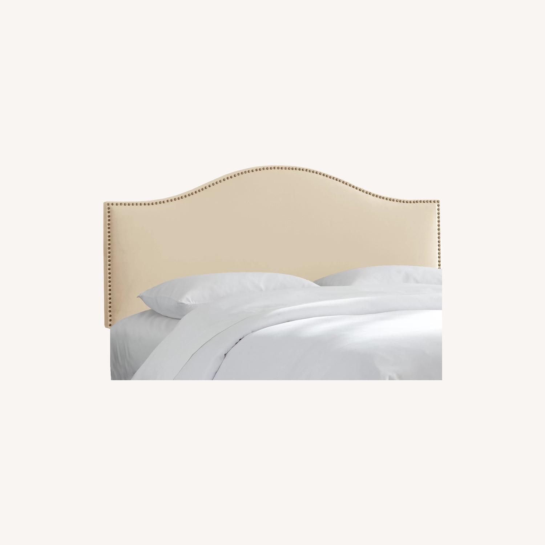 Bloomingdale's Natural Velvet Headboard - image-0
