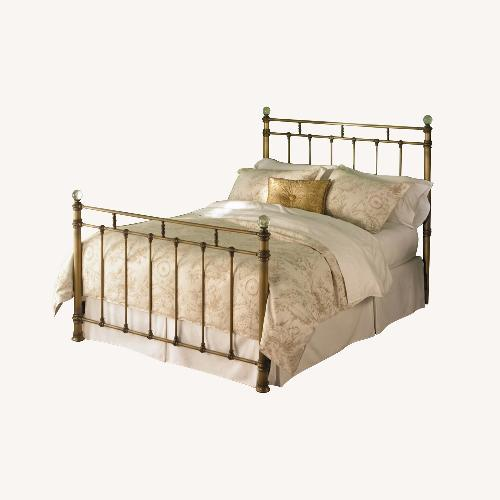 Used Bloomingdale's Gold Iron Bed for sale on AptDeco