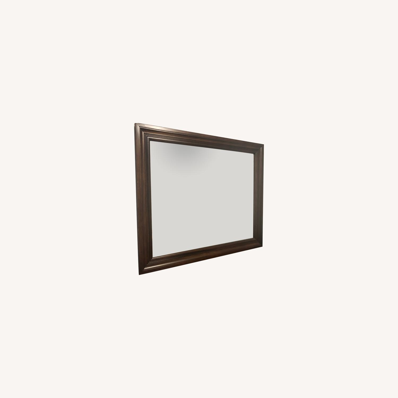 Vaughan Bassett Dark Cherry Landscape Mirror - image-0