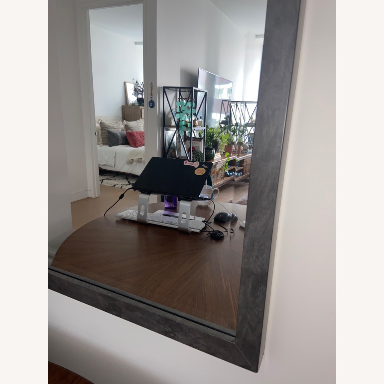 Pottery Barn Mid Century Modern Warehouse Feel Mirror - image-2
