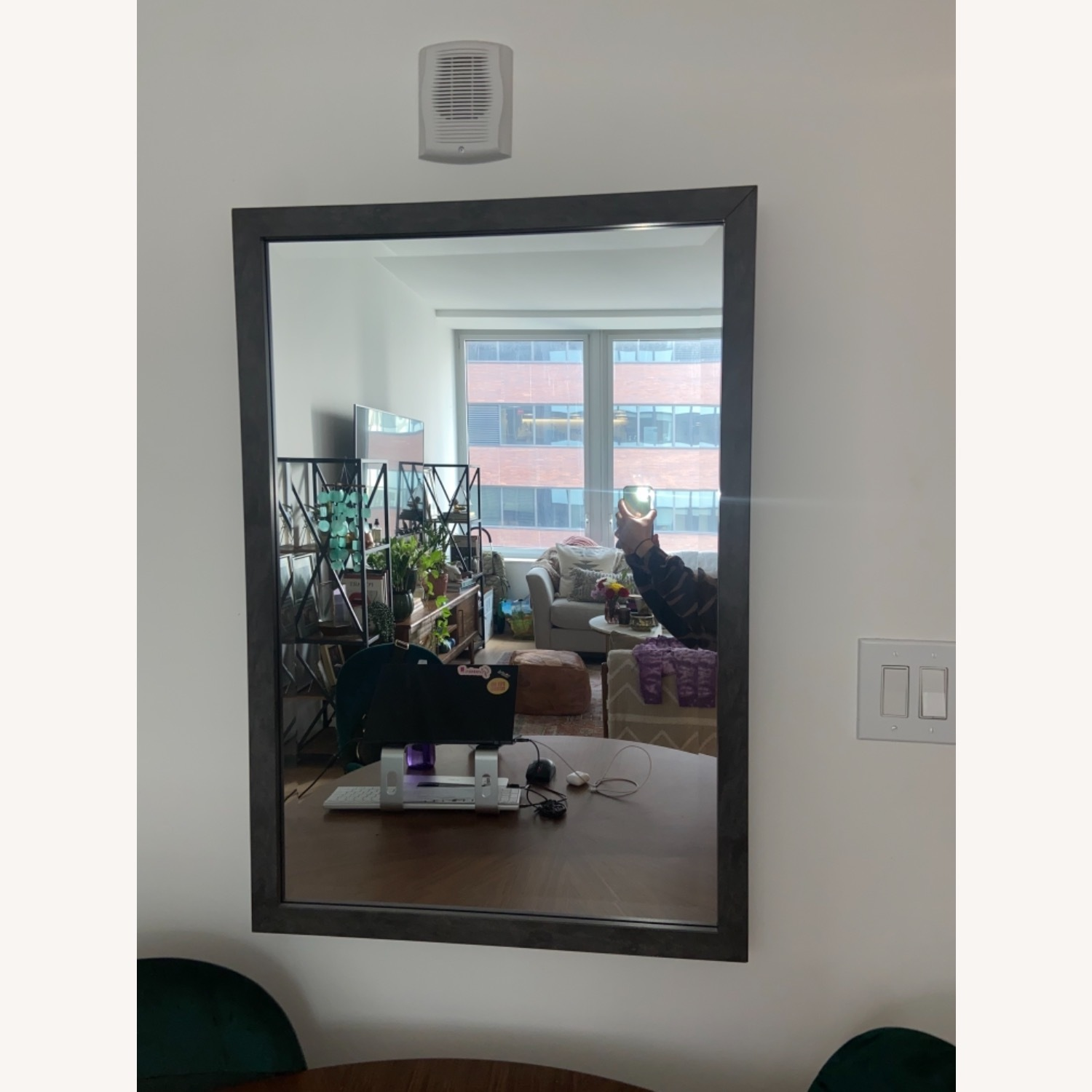 Pottery Barn Mid Century Modern Warehouse Feel Mirror - image-3