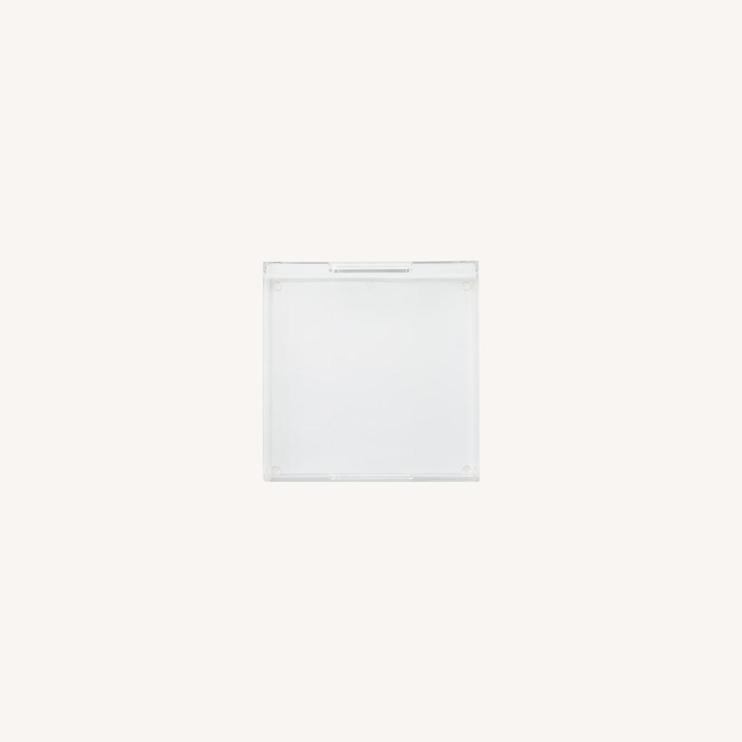 West Elm Clear Acrylic Square Tray - image-0
