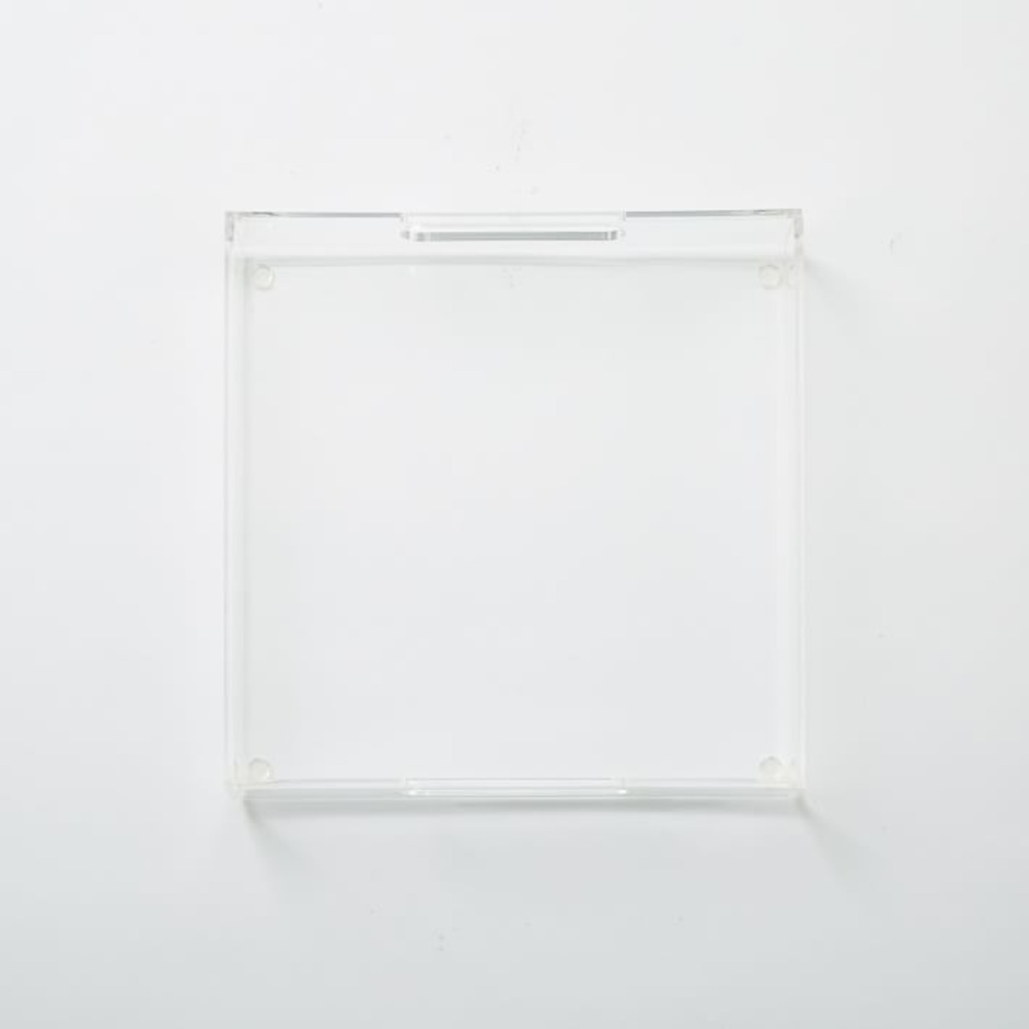 West Elm Clear Acrylic Square Tray - image-1