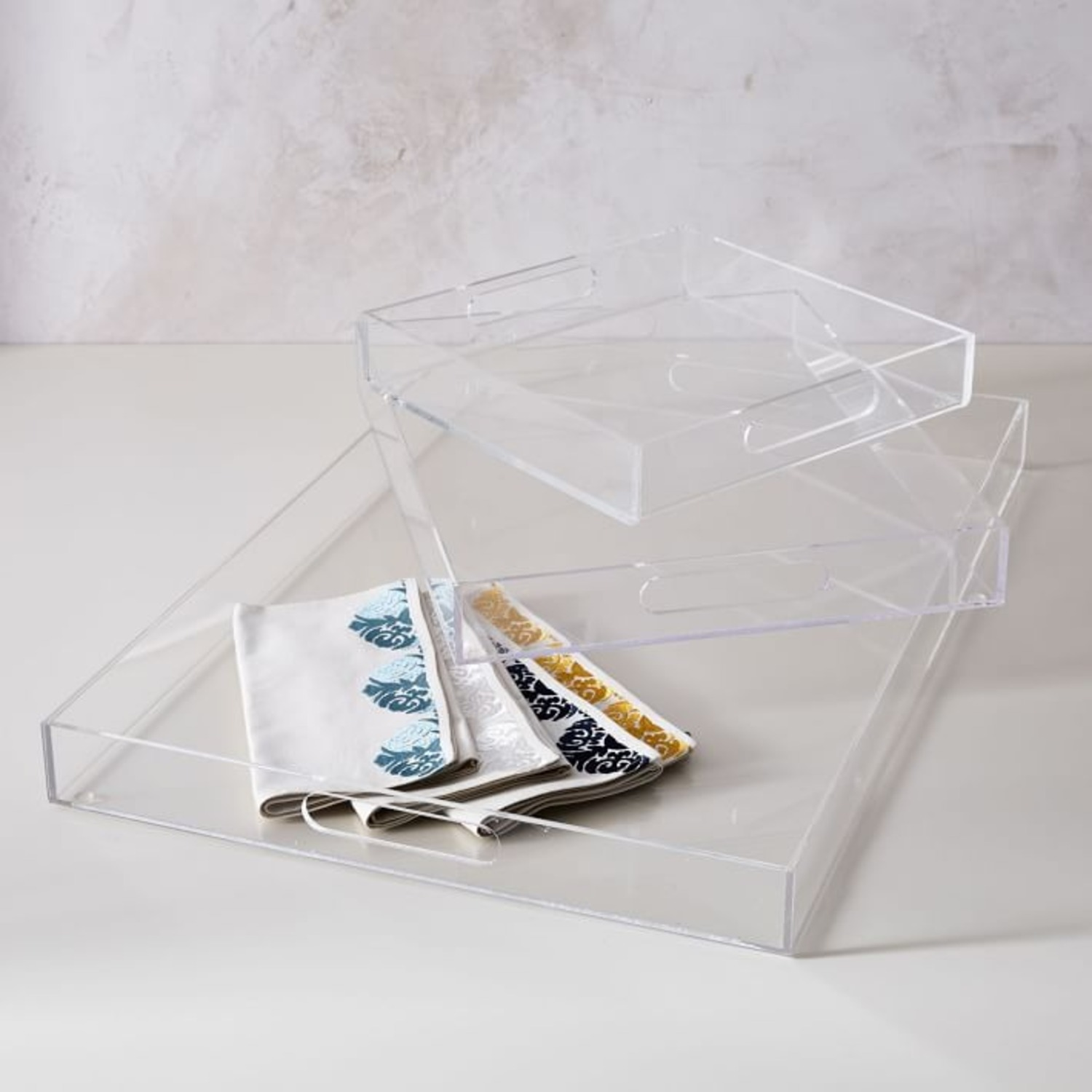 West Elm Clear Acrylic Square Tray - image-4