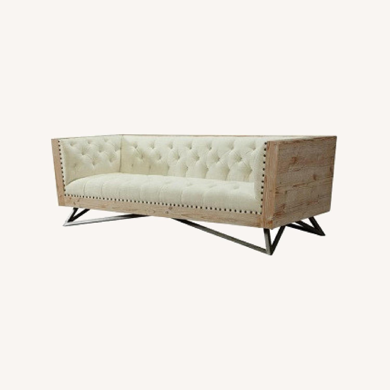 Tufted Regis Cream Sofa - image-0