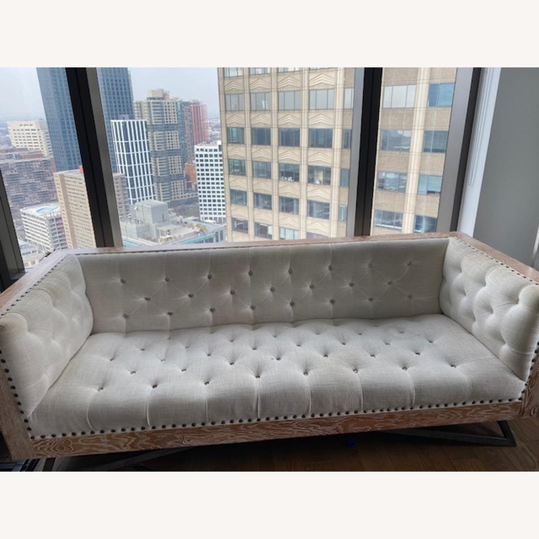 Tufted Regis Cream Sofa - image-1