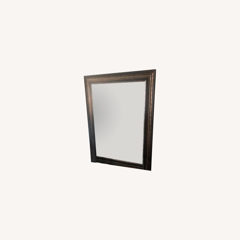 Decorative Mirror with Bronze Brown Border - image-0