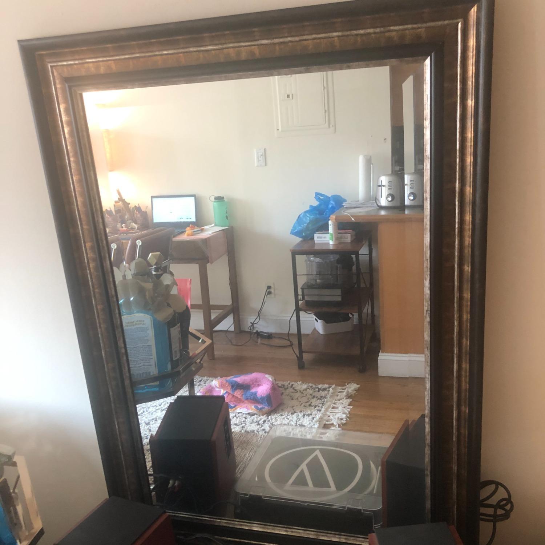 Decorative Mirror with Bronze Brown Border - image-2