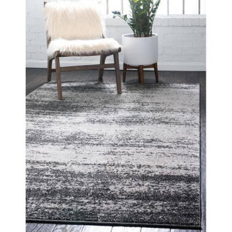 Unique Loom Del Mar Ombre Area Rug 9x12 Dark Gray - image-4