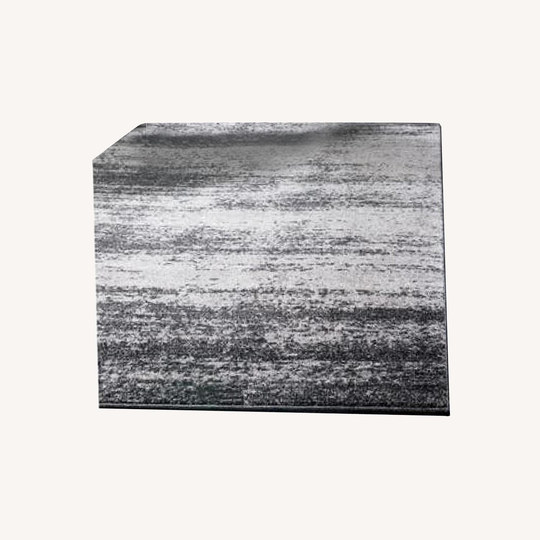 Unique Loom Del Mar Ombre Area Rug 9x12 Dark Gray - image-0
