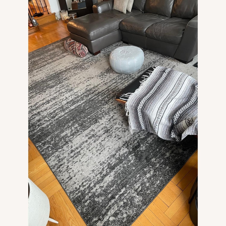 Unique Loom Del Mar Ombre Area Rug 9x12 Dark Gray - image-2