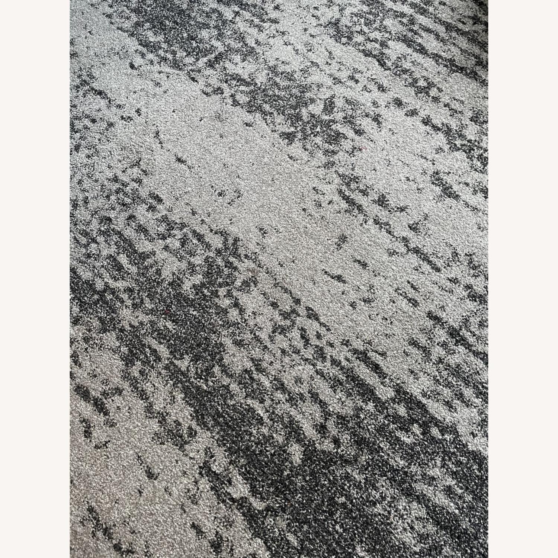 Unique Loom Del Mar Ombre Area Rug 9x12 Dark Gray - image-3