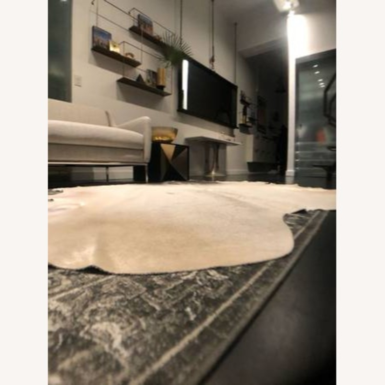CB2 Grey Cowhide Rug - image-8