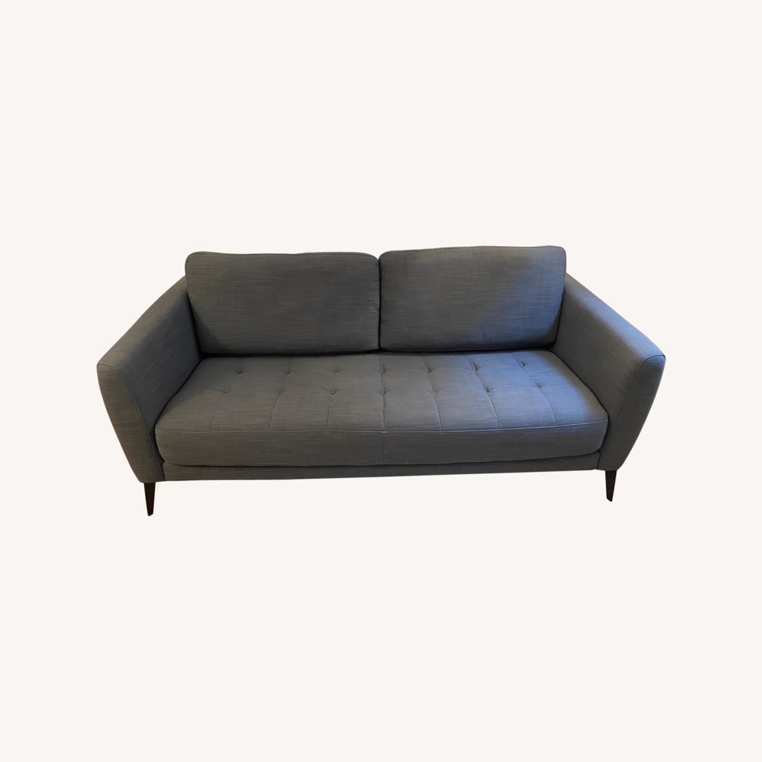 Macy's Tufted Modern Couch Sofa - image-0