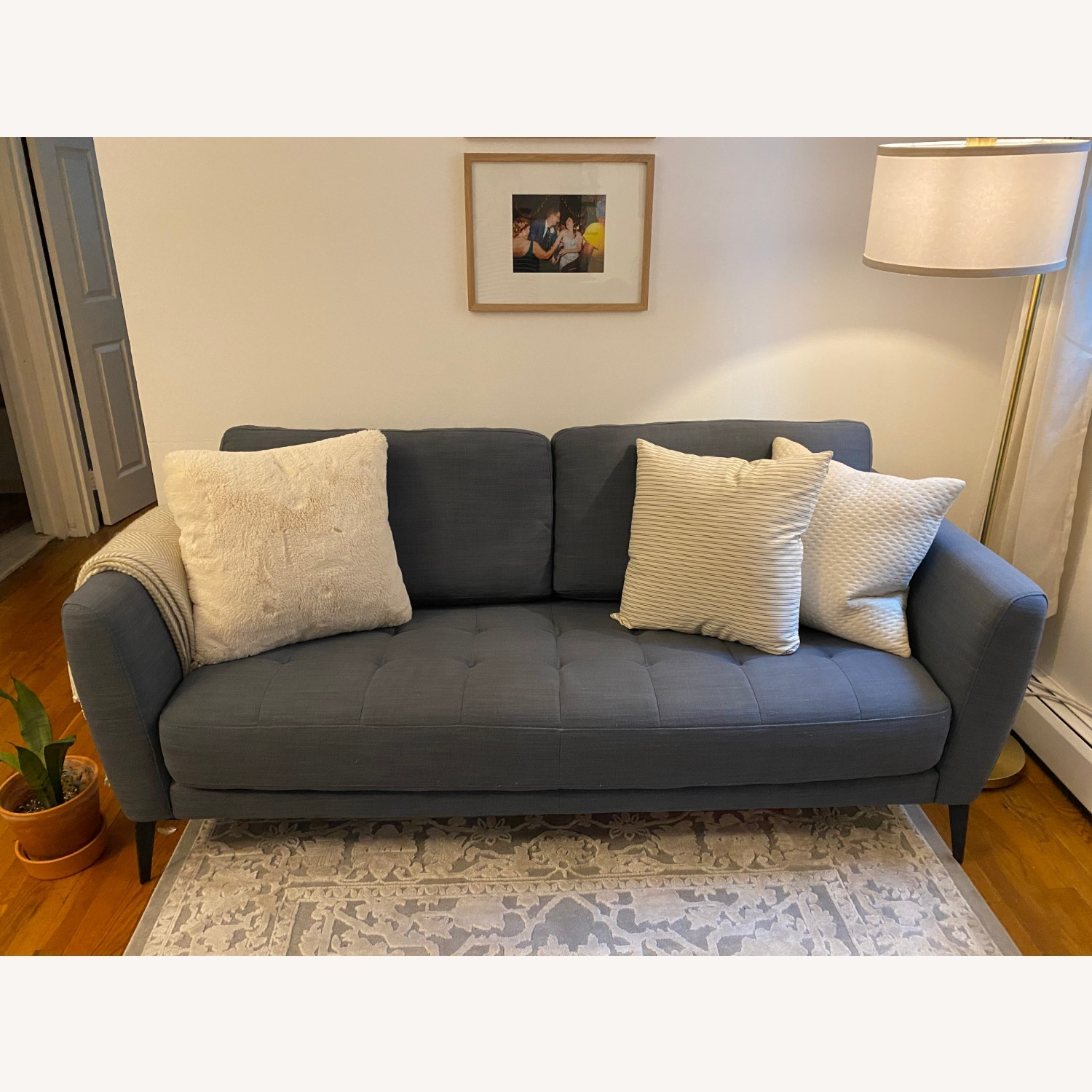 Macy's Tufted Modern Couch Sofa - image-2