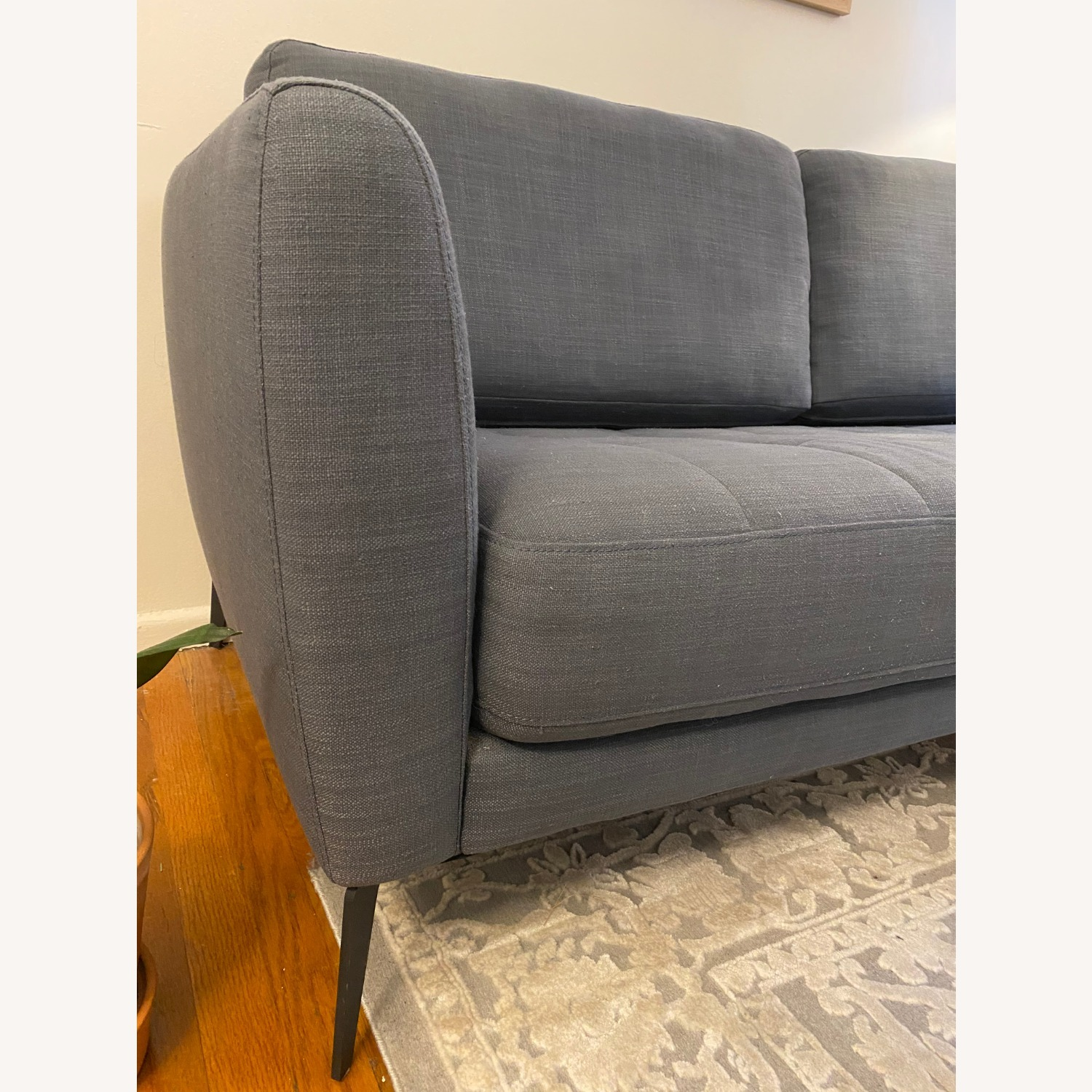 Macy's Tufted Modern Couch Sofa - image-3