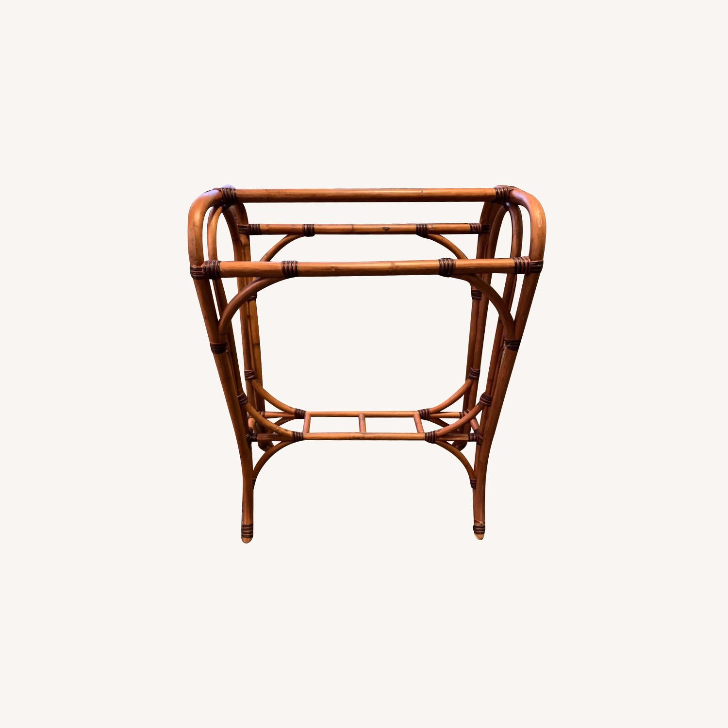Rattan Towel Rack In The Style Of Franco Albini. - image-0