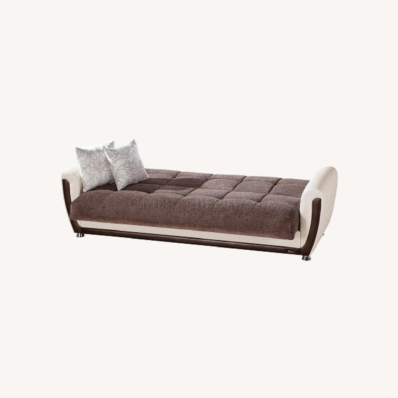 Istikbal Avella Brown Modern Sofa Bed Convertible - image-0