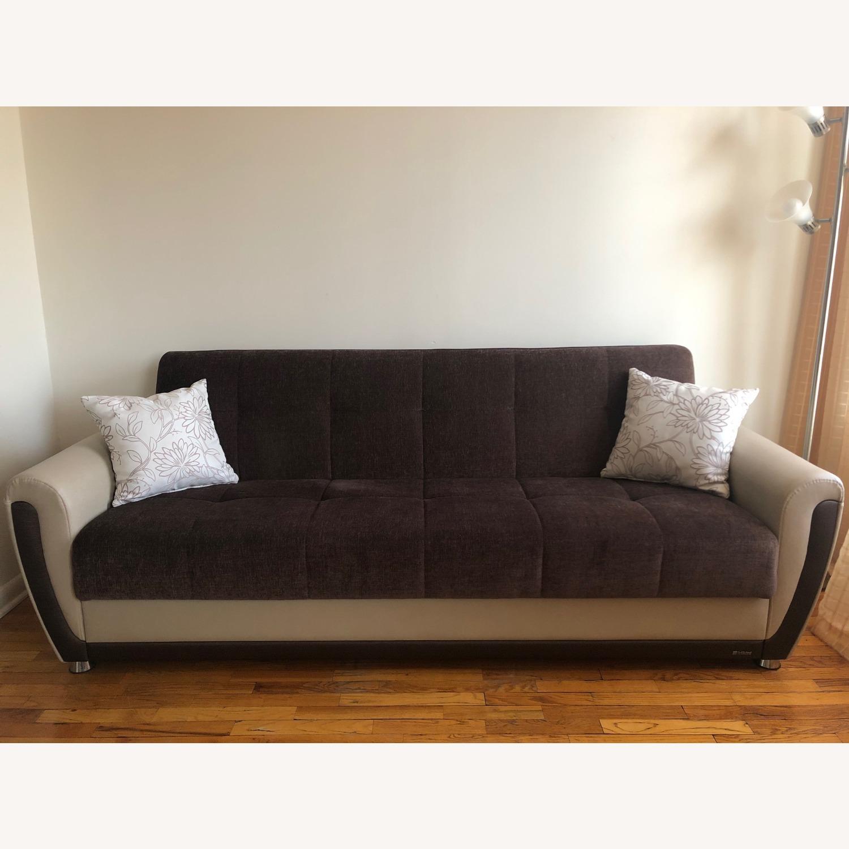 Istikbal Avella Brown Modern Sofa Bed Convertible - image-1