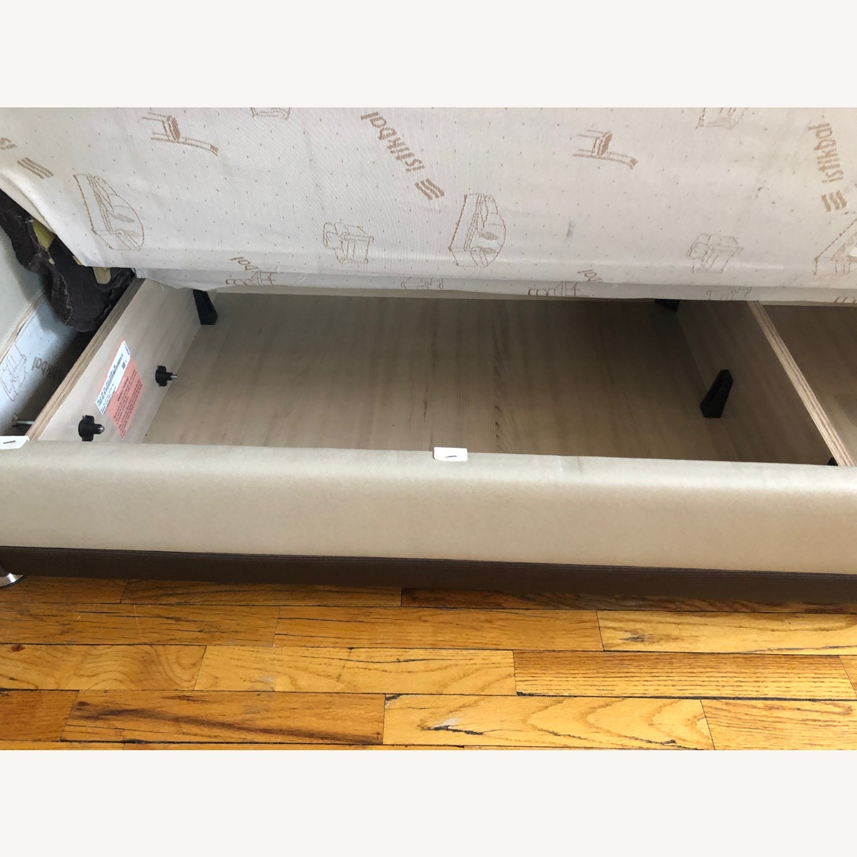 Istikbal Avella Brown Modern Sofa Bed Convertible - image-7