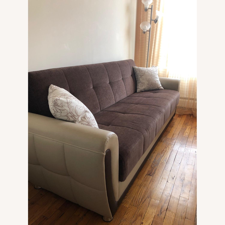 Istikbal Avella Brown Modern Sofa Bed Convertible - image-3