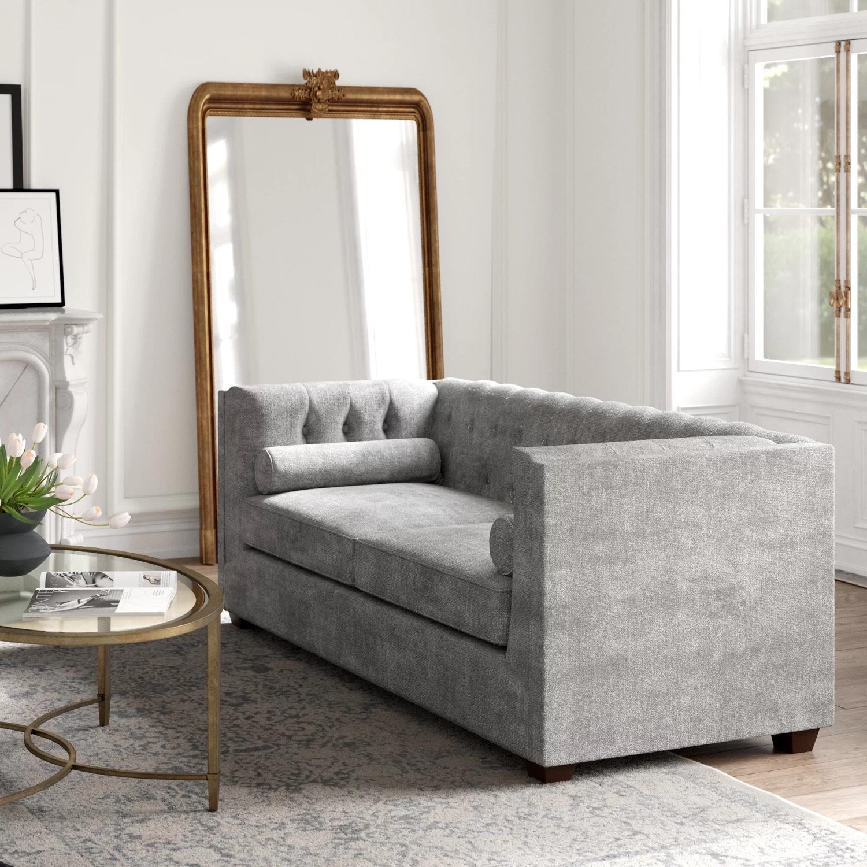 Wayfair Grey Velvet Kelly Clarkson Sofa - image-2