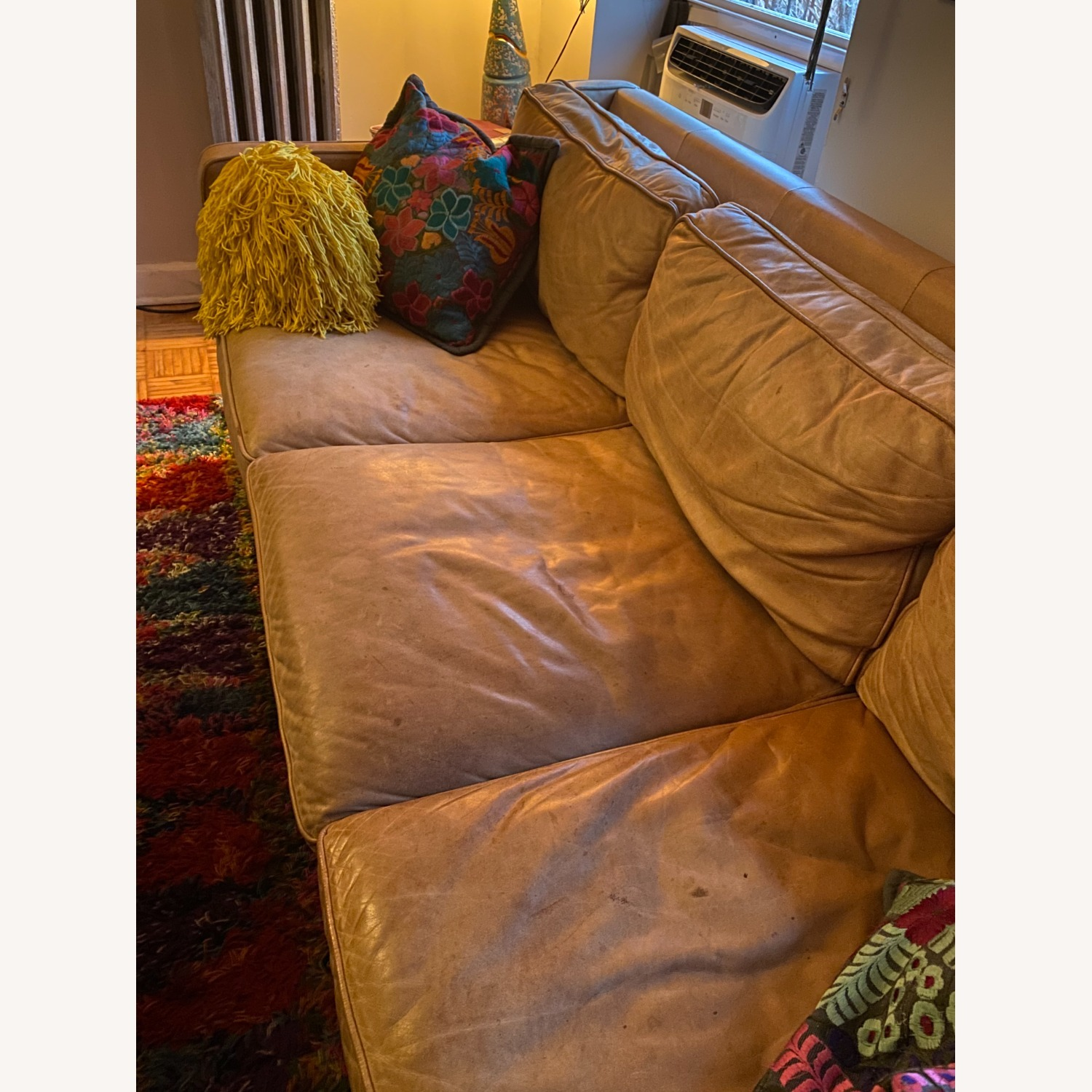 West Elm Leather Couch - image-5