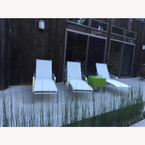 Used Design Within Reach Lucca White / Chrome Chaise Lounges for sale on AptDeco