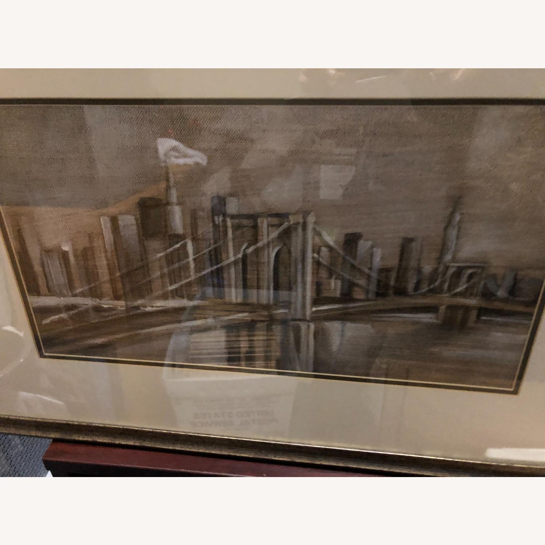 Crate & Barrel Brooklyn Bridge Print - image-3