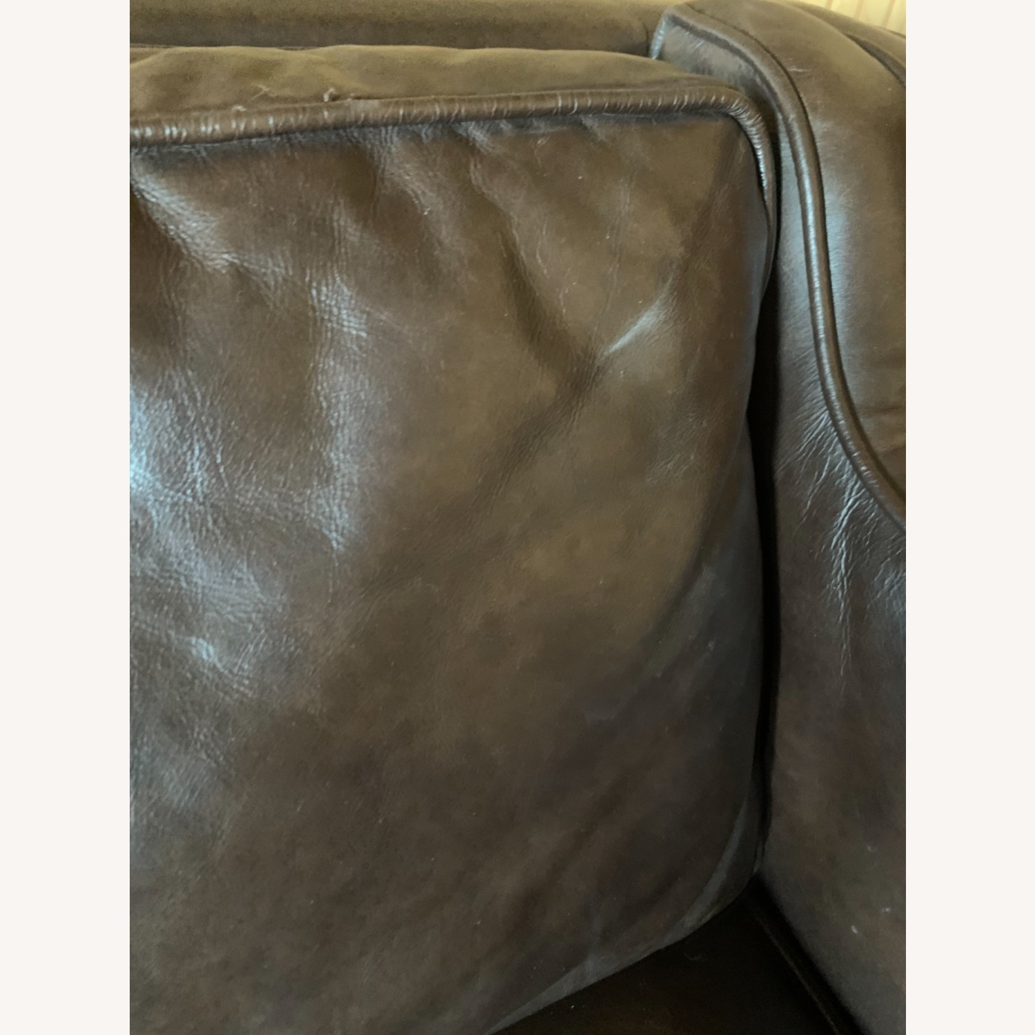 Article Worthington Brown Leather 3Person Couch - image-3