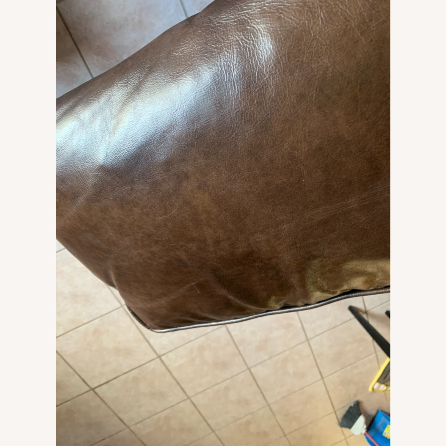 Article Worthington Brown Leather 3Person Couch - image-4