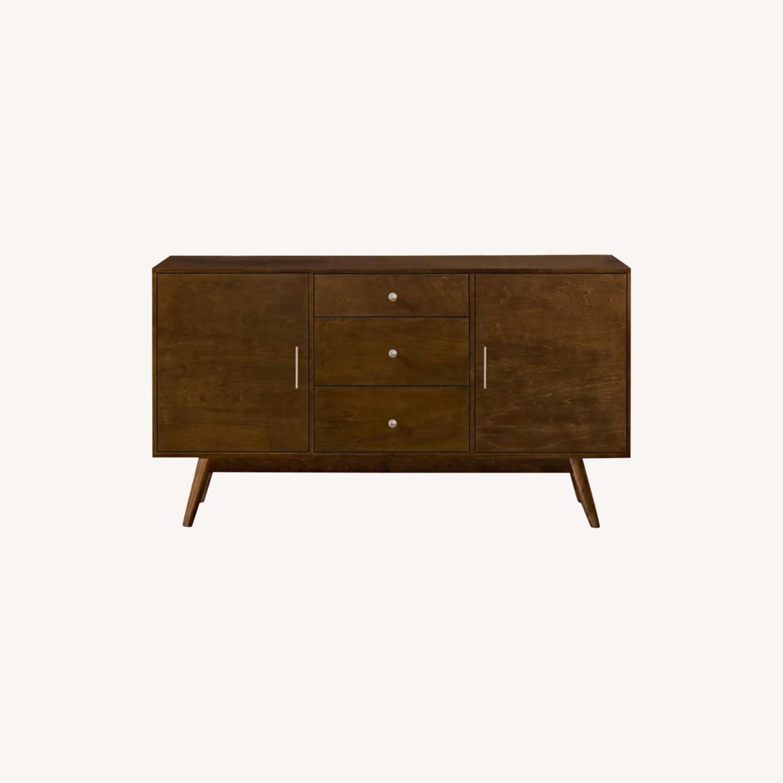 Wayfair Solid Walnut Wood Veneer TV Stand - image-0