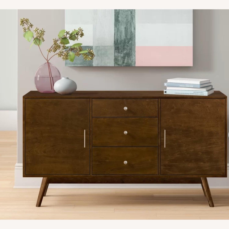 Wayfair Solid Walnut Wood Veneer TV Stand - image-1