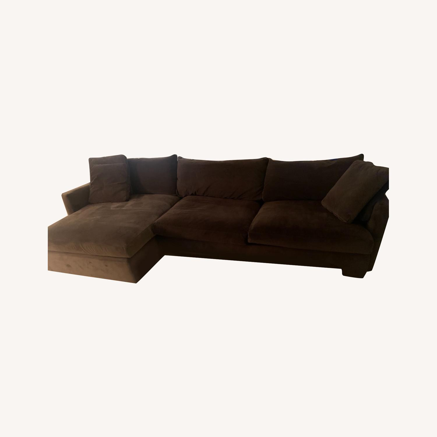 Crate & Barrel Lounge Chaise Brown Color - image-0