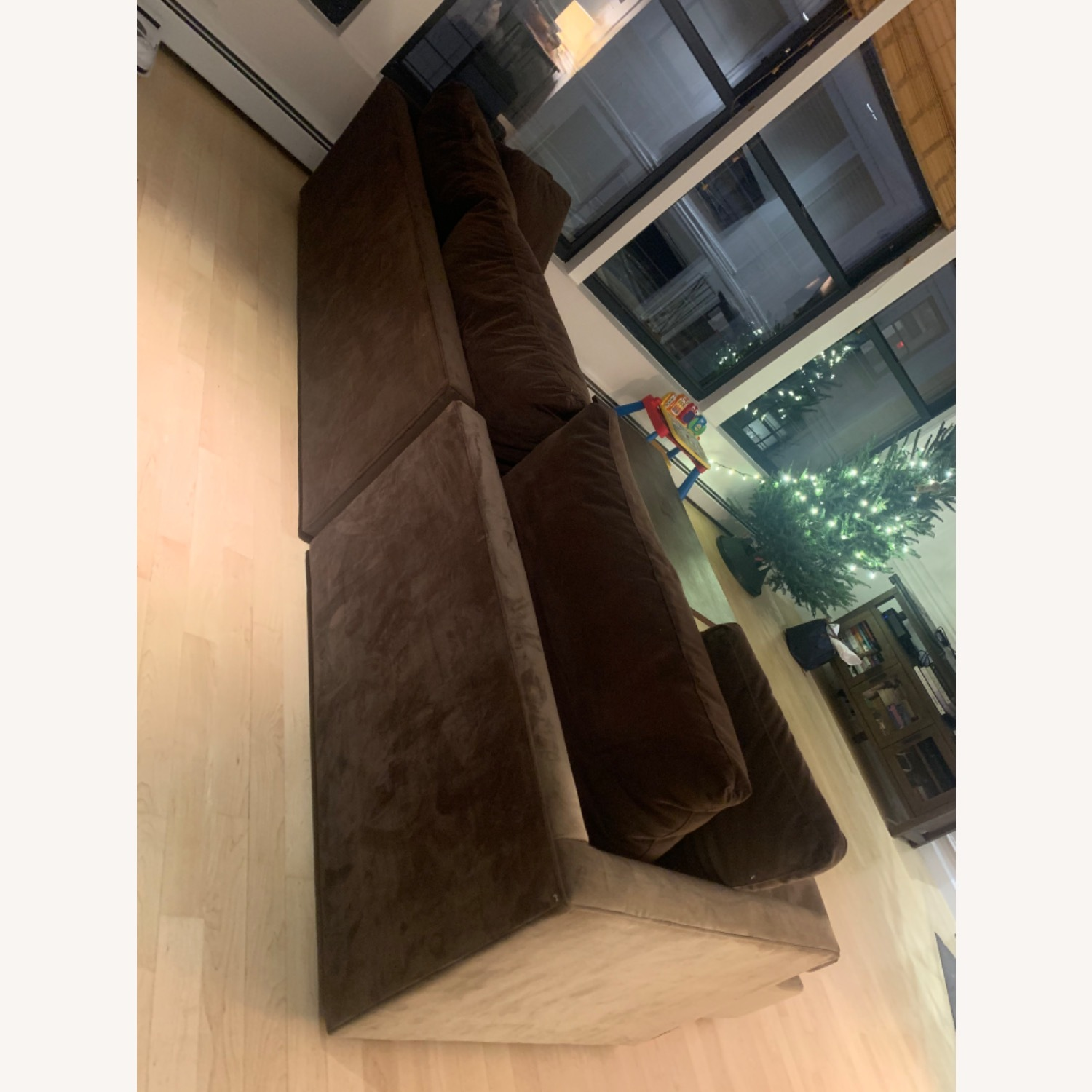 Crate & Barrel Lounge Chaise Brown Color - image-3