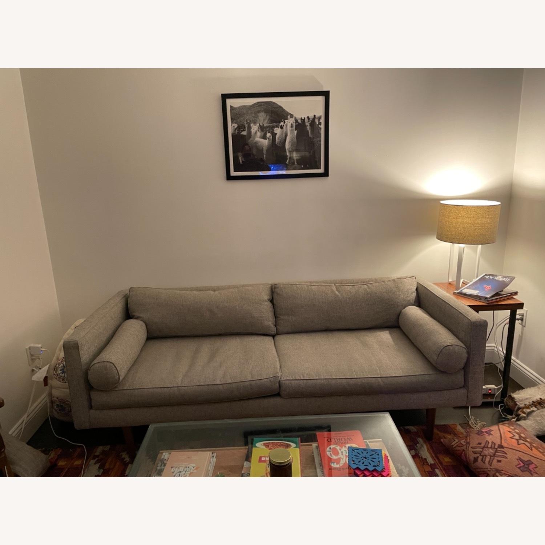 West Elm Grey Monroe Mid Century - image-4