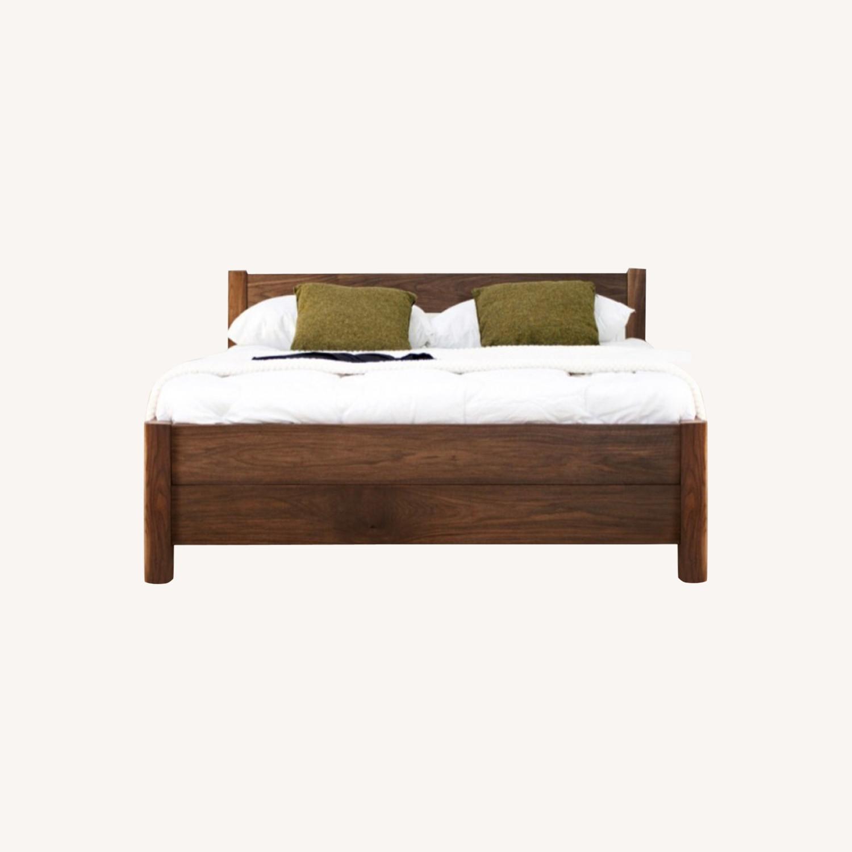 Real Wood Full Bed Frame Scandinavian - image-0