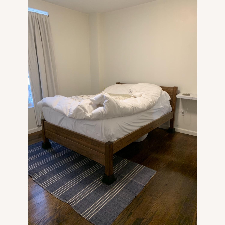 Real Wood Full Bed Frame Scandinavian - image-2