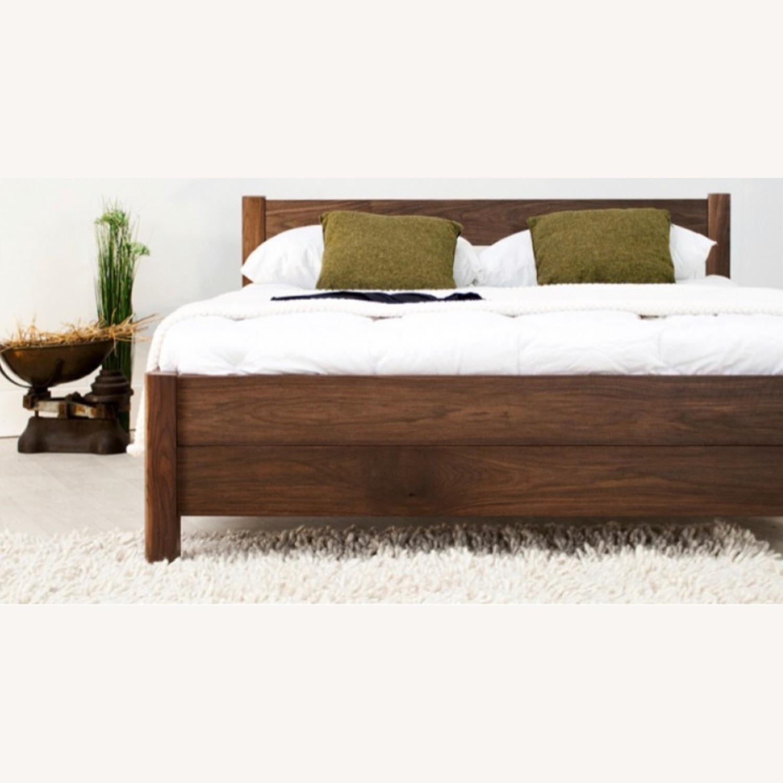 Real Wood Full Bed Frame Scandinavian - image-1