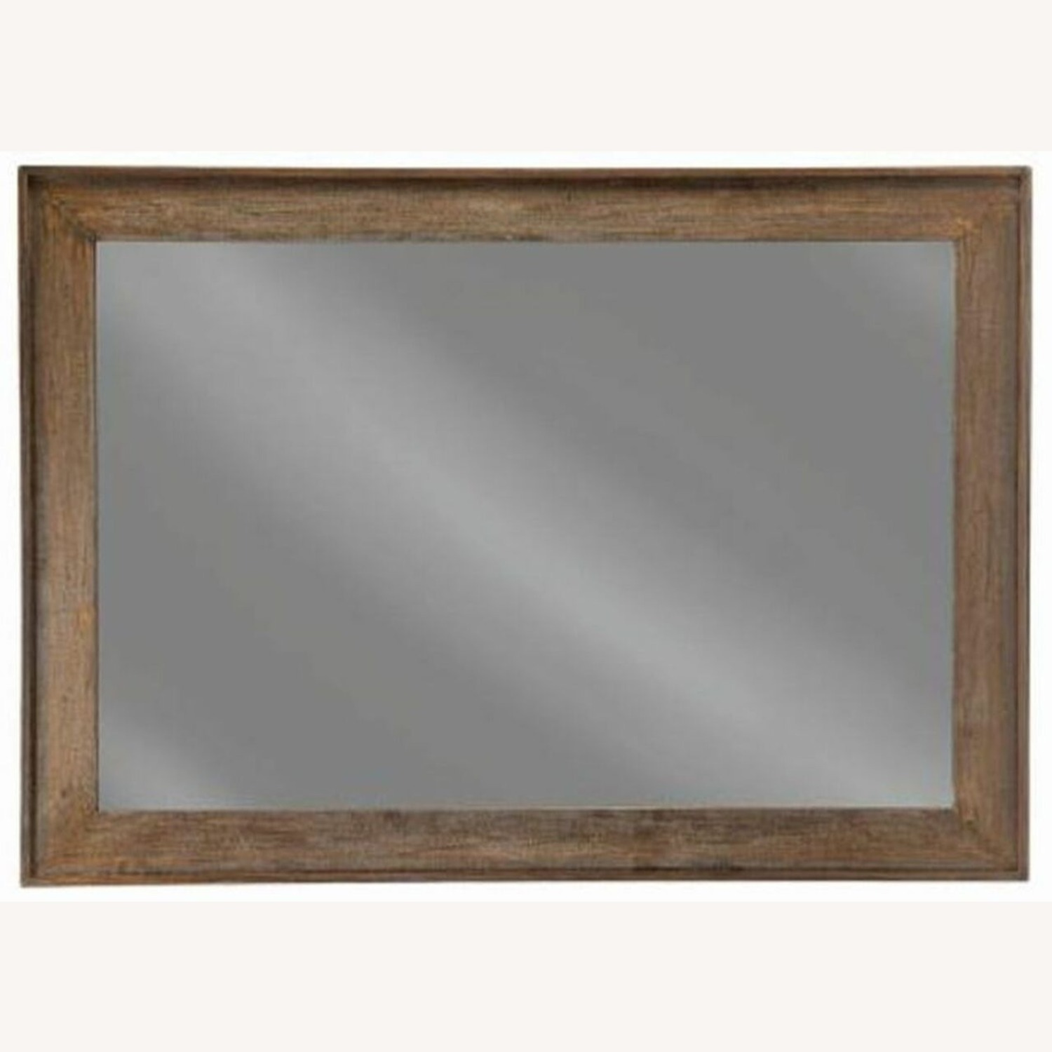 Mirror W/ Contoured Pine Frame & Distressed Look - image-1