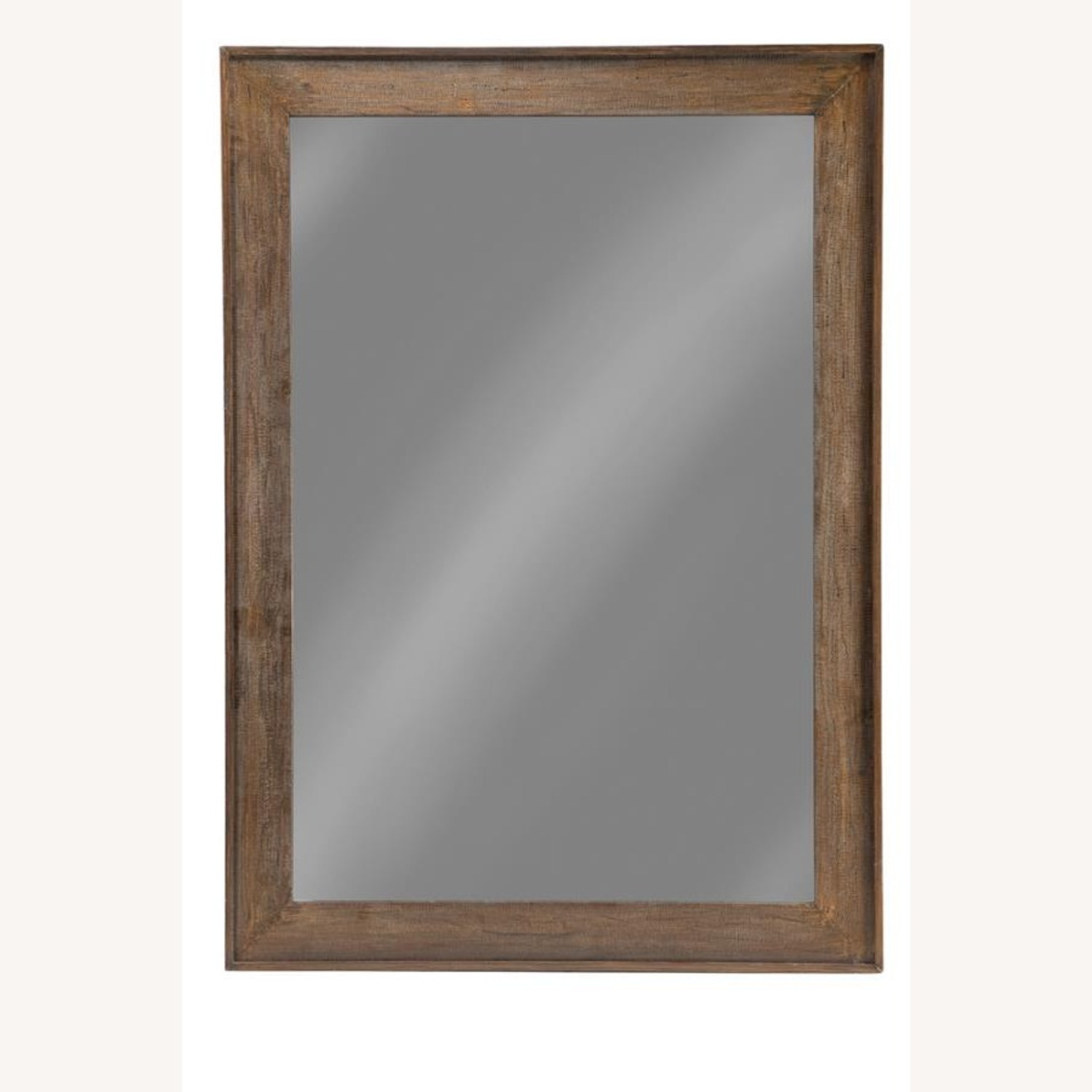 Mirror W/ Contoured Pine Frame & Distressed Look - image-0