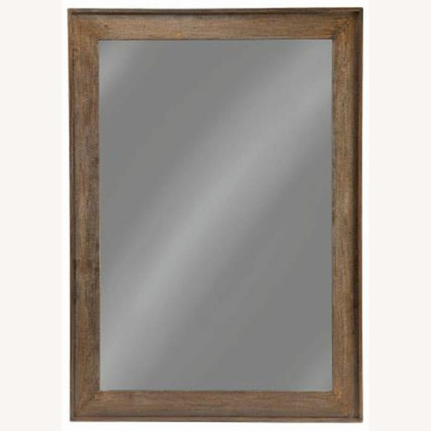 Mirror W/ Contoured Pine Frame & Distressed Look - image-2