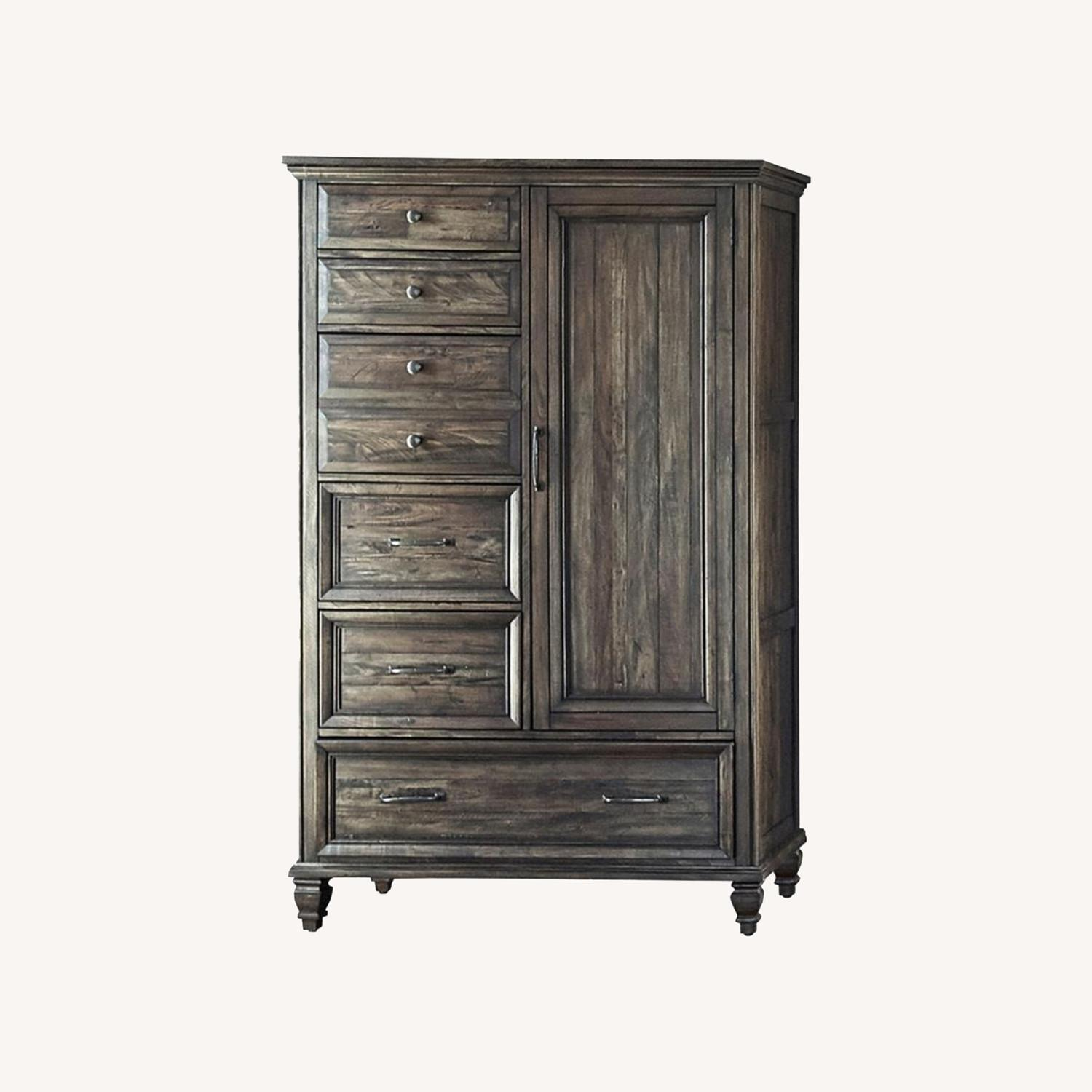 Door Chest In Weathered Burnished Brown Finish - image-4