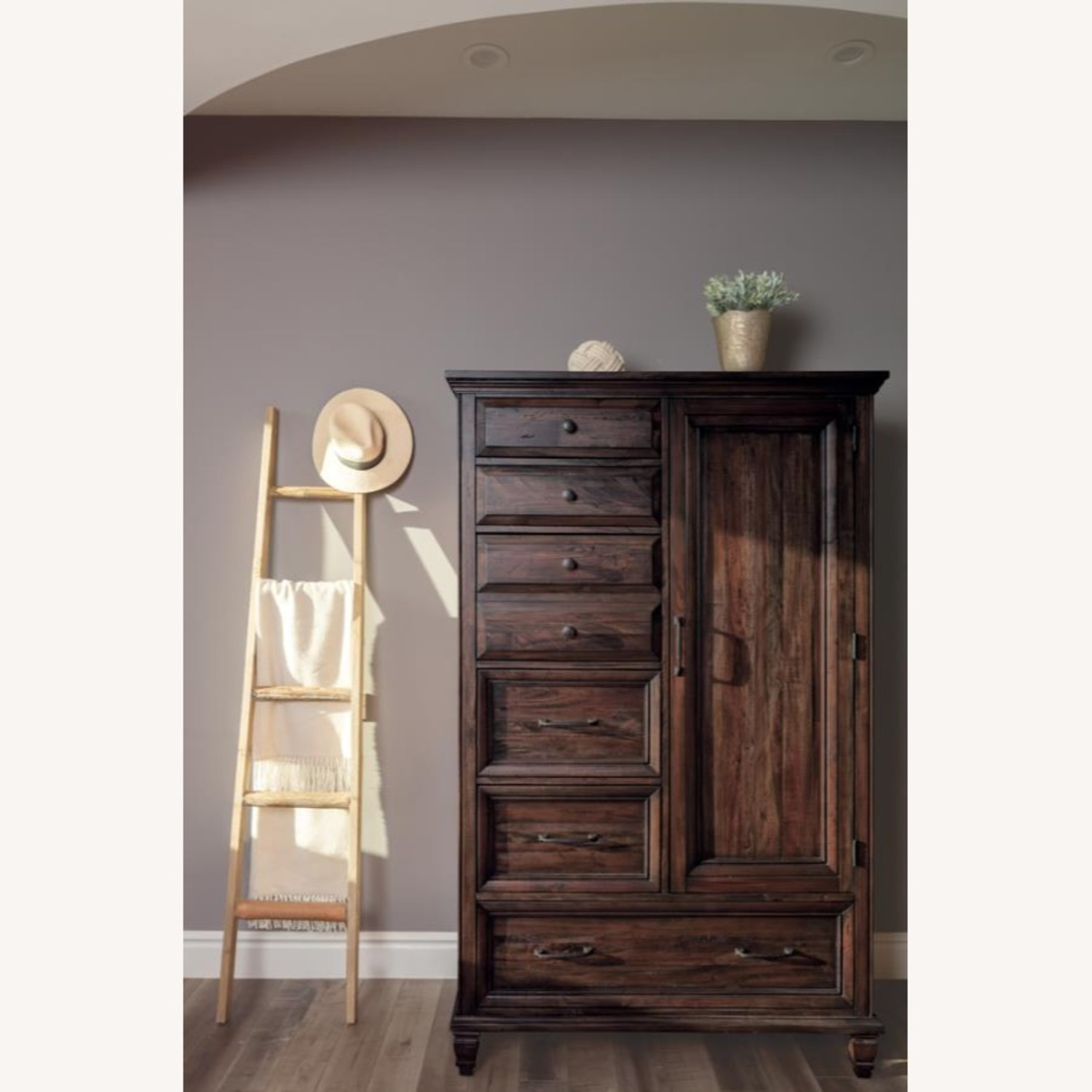 Door Chest In Weathered Burnished Brown Finish - image-2
