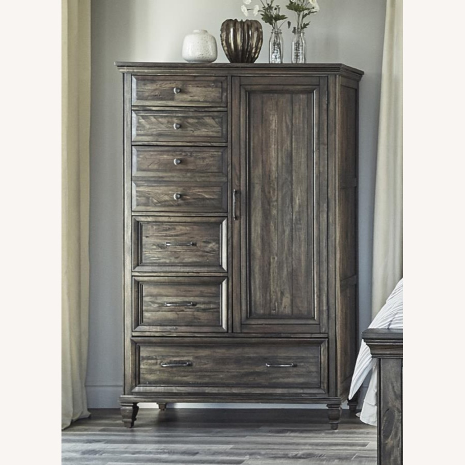 Door Chest In Weathered Burnished Brown Finish - image-3